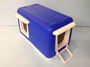 Heated CAT POD 2 Doors Outdoor CAT House Shelter BED Condo