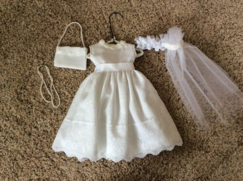 """Handmade Wedding Dress with Accessories for American Girl 18"""" Doll"""