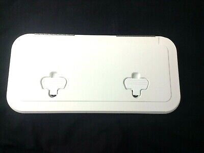 """520-033 Innovative Product Solutions 8/"""" x 14/"""" Arctic White Boat Deck Hatch"""