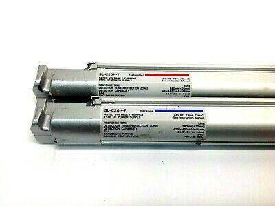 Keyence Sl-c20h Safety Light Curtain Transmitter Receiver Set