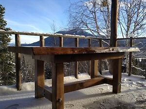 Rustic Live Edge Table