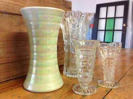 Retro Big Green Balloon Brandy Snifter Glass Deco Vase 31 Cm Vases