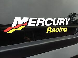 Mercury Racing COLOR DI CUT Sticker Race Boat Outboard DECAL YOU GET 2