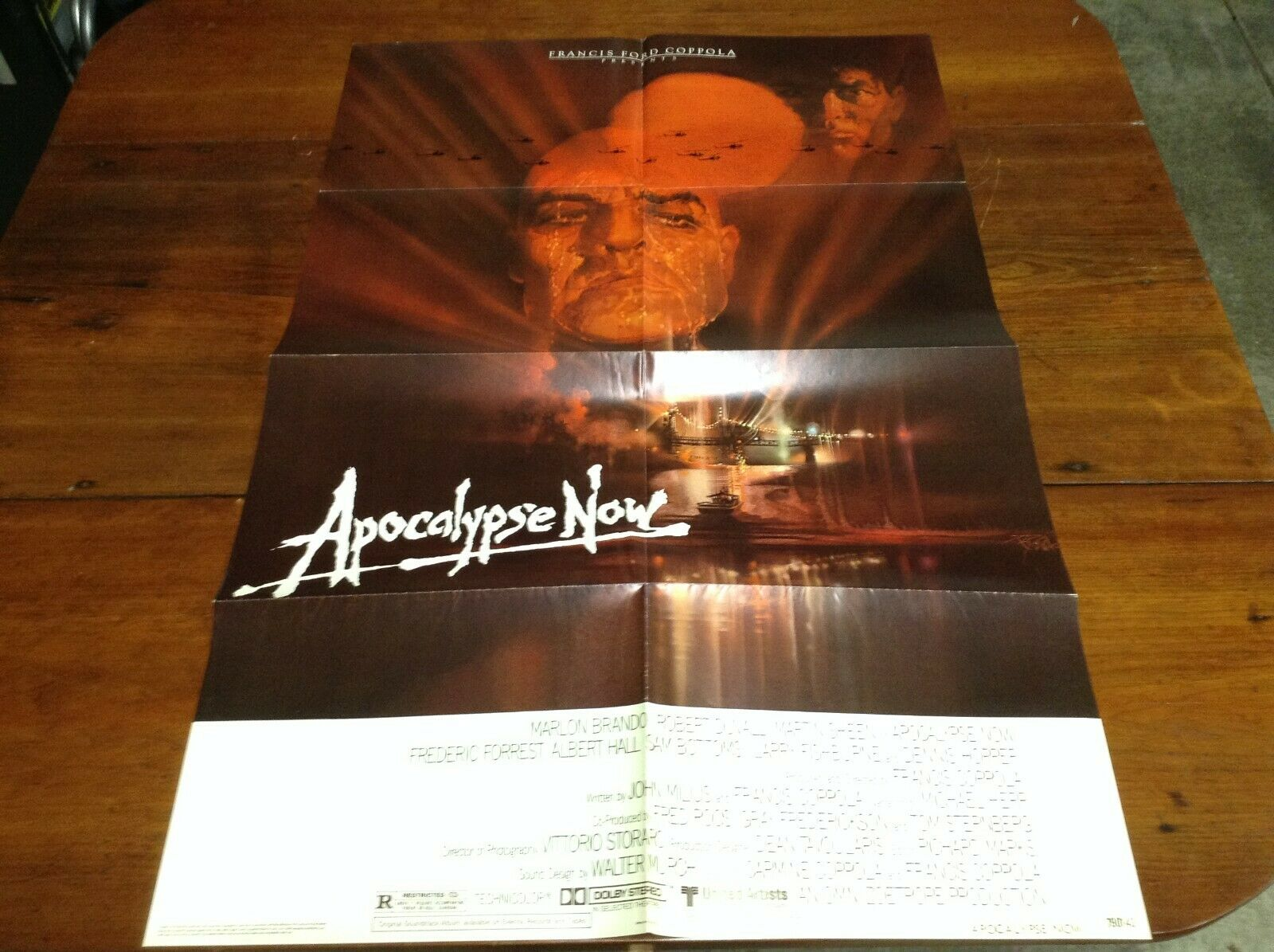 Apocalypse Now Original 1 Sheet Movie Poster 27 X 41 Folded - $100.00