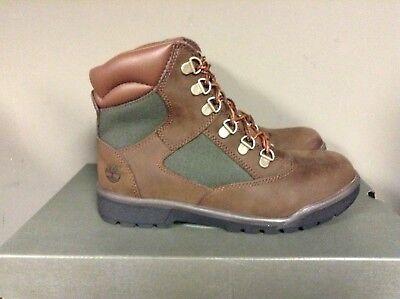 Timberland 6-Inch Field Boot Brown/Green Junior Big Kids Boots 44992 NEW