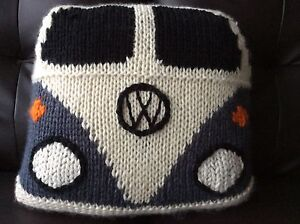 KOMBI CUSHION. HAND KNITTED . BRAND NEW. Different colours available. Sandy Bay Hobart City Preview