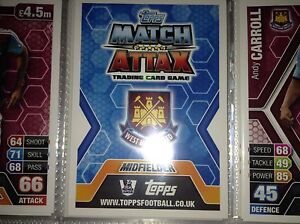 Match-Attax-13-14-Individual-West-Ham-Players-Base-free-postage