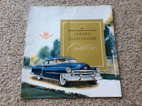 1952  Cadillac  original dealership showroom color sales handout
