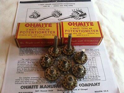Ohmite Potentiometer Type Ab 2 Watt Type U-j Linear
