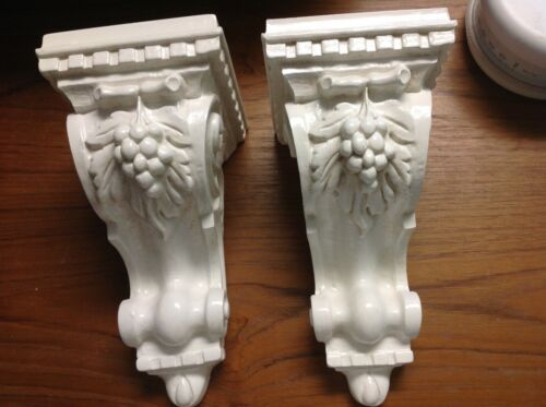 Decorative Corbel with Grapes, Pair