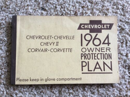 1964 Chevrolet, owners protection plan, booklet,  used,