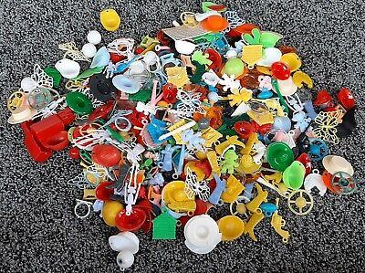 Huge Massive vintage Plastic Gumball Machine Prizes Charms Toys Trinkets lot