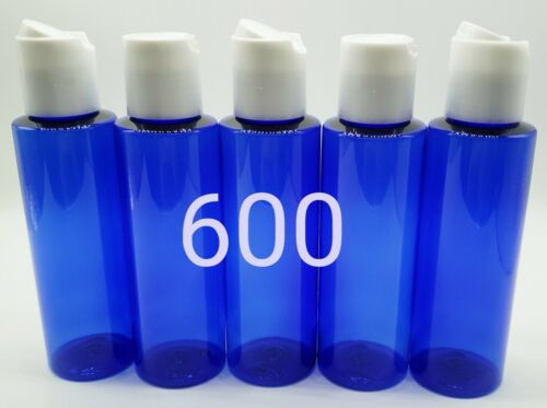 Bulk Lot of 600 4oz Cobalt Blue Plastic Bottles Push Down Cap for Shampoo Lotion Health & Beauty