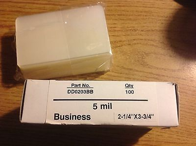 100 5mil Business Card Size Laminating Pouches 3 34 X 2 14 By Bindrite