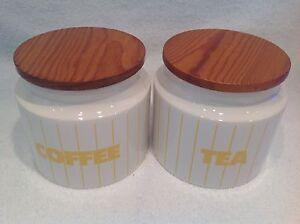 Hornsea Coffee & Tea Storage Jars.