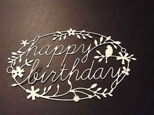 10 x Memory Box die cuts  Happy Birthday Tidings **FREE POSTAGE***