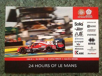 CARD LE MANS 24 HOURS 2017 : MANOR 24 / GRAVES HIRSCHI VERGNE