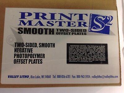Box 100 Negative Offset Photopolymer Plates Smooth 2 Sided 11 14 X8.5 Pb .0055