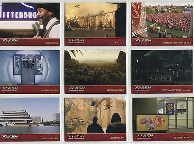 The Flash Season 2 Complete Locations Chase Card Set L1-9
