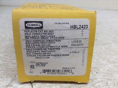 Hubbell Hbl2423 Twist Lock Receptacle 20 A 250 V 3 P 4 W New