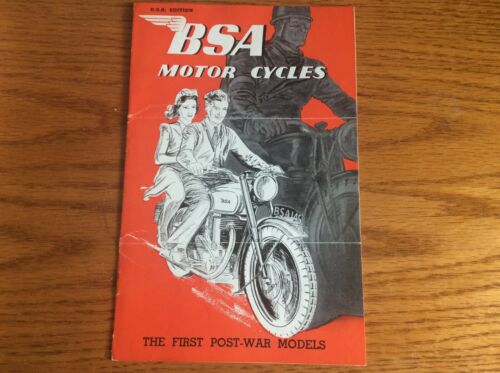 VINTAGE 1945 BSA MOTORCYCLES SALES BROCHURE