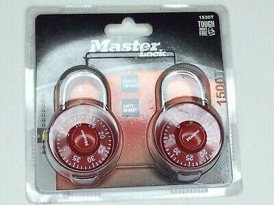 Master Lock Padlock 2 Pack Standard Dial Combination Lock 1530t Redblue Purple