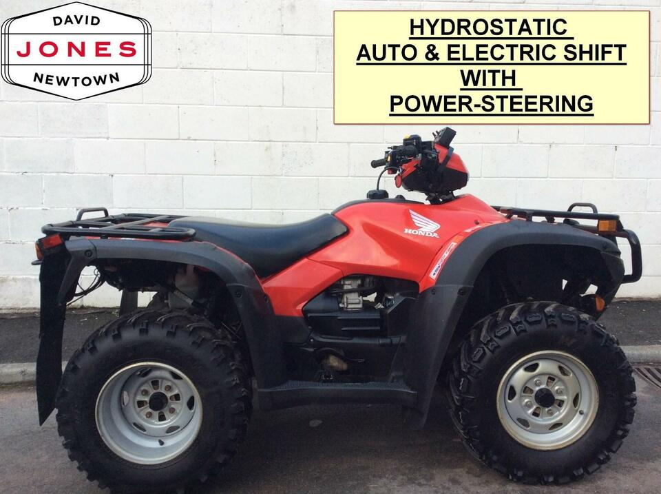 2013 HONDA TRX500AT FPA FOREMAN AUTO HYDRO 10 SPEED LOW BOX 4x2x4 4WD QUAD ATV