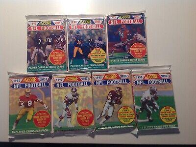 1990 Score Football Card - 1990 Score NFL Football Cards 7 Unopened Packs Emmitt Smith Rookie