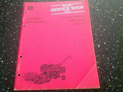 John Deere 3300 Combine Operators Manual