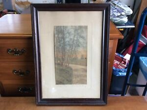 Antique Wallace Nutting print photo EARLY MAY