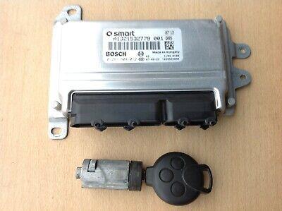 SMART FORTWO 451 1.0 PETROL ENGINE ECU IGNITION LOCK KEY SET 2007-14 A1321532779