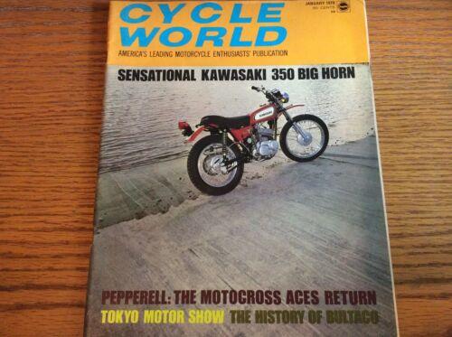 VTG CYCLE WORLD MAGAZINE JANUARY 1970 ISSUE