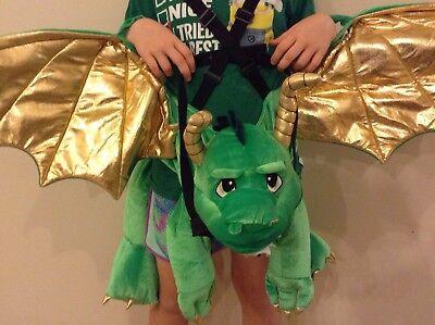 Kids Green Dragon Ride-In Halloween Costume - One Size - Kids In Halloween