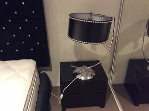Black lacquer bedsides x2 bedside lamps x2 Mindarie Wanneroo Area Preview