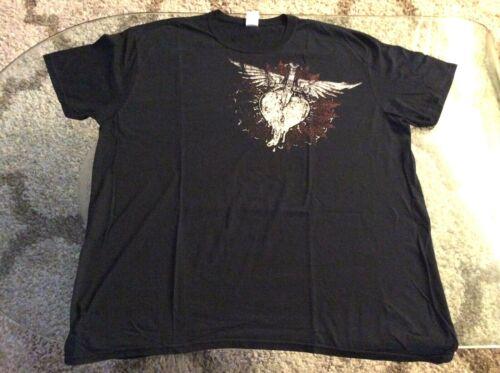 Bon Jovi Heart and Dagger Logo Black Double Sided Shirt Adult 2X-Large 2XL