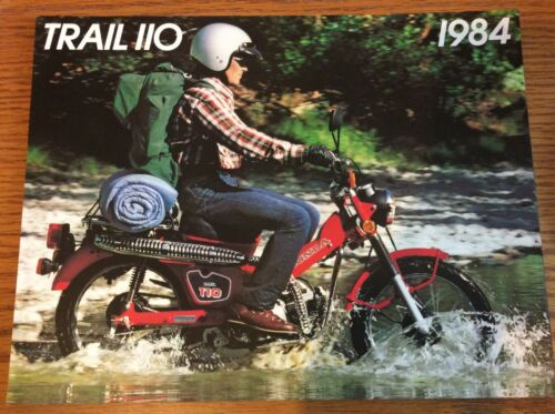 VINTAGE 1984 HONDA TRAIL 110 MOTORCYCLE SALES BROCHURE