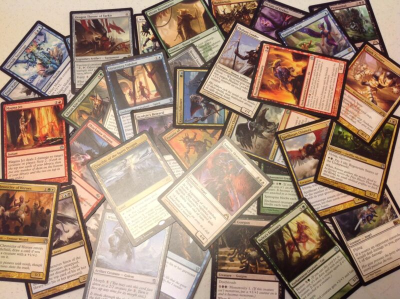 100 Mtg Magic The Gathering Cards Booster Pack Bulk Lot - Rares & Uncommons