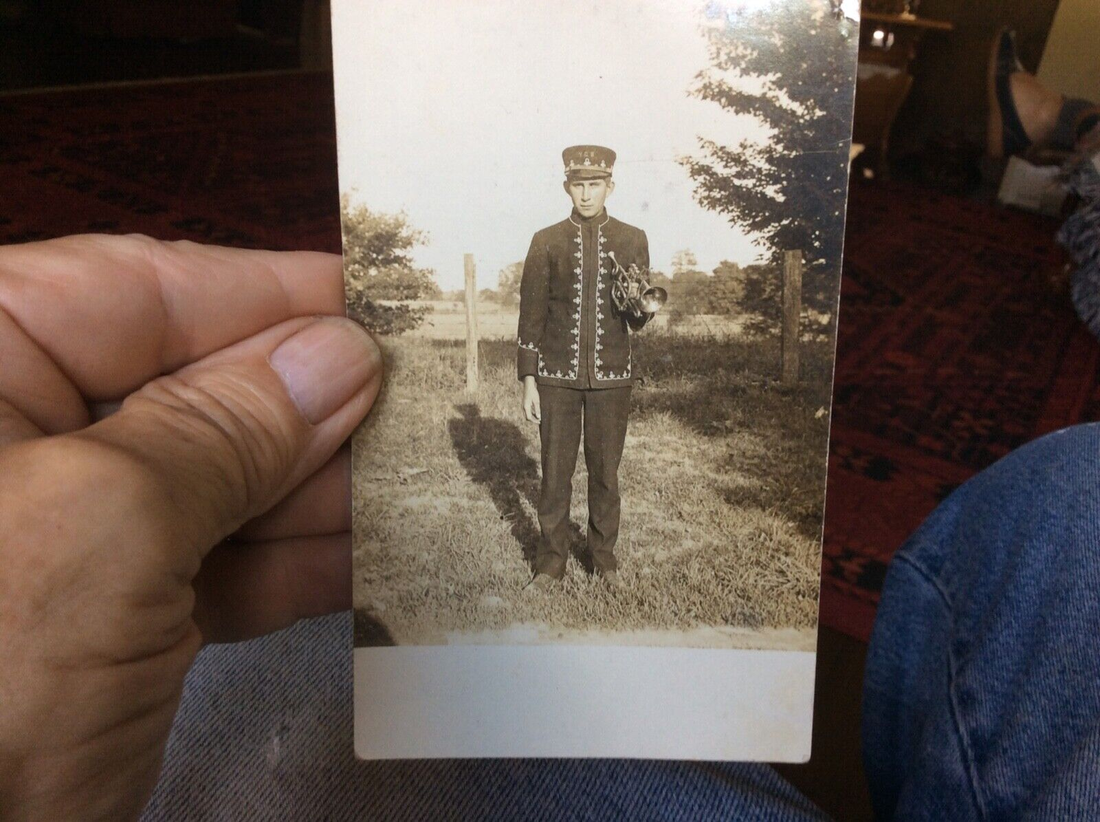 Union County,Ohio-A Young Guy Green In His York Center Coronet Band Uniform - $6.50