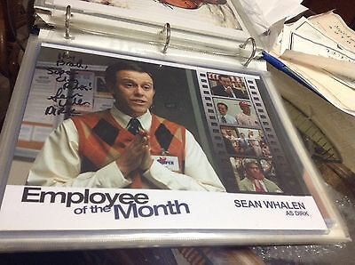 Sean Whalen   Employee Of The Month Signed Photo Autographed