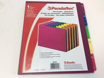 Pendaflex Top Tab File Guides Alpha A-z 15 Tab Polypropylene 25set
