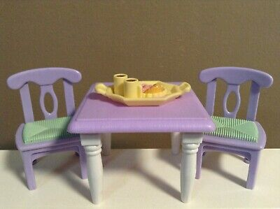 LOVING FAMILY LOT TABLE & CHAIRS DOLLHOUSE DINING ROOM FURNITURE FISHER PRICE B