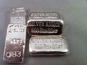 1oz Hand Poured 999 Silver Bullion Bar