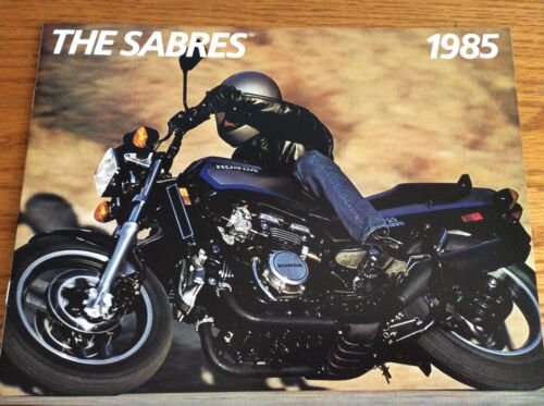 VINTAGE 1985 HONDA THE SABRES MOTORCYCLE SALES BROCHURE