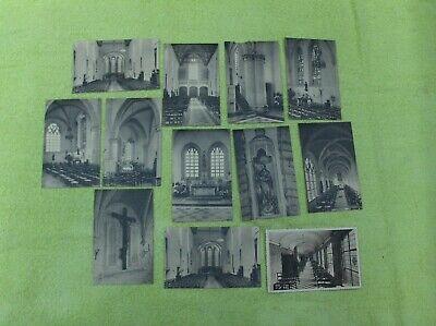 Vintage CPA :  lot de 12 cp BRUXELLES Abbaye de la Cambre état voir photos