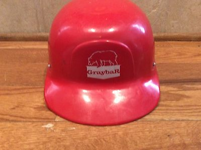 Vintage Advertising Red Graybar Hard Hat Plastic