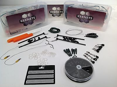 KEENETS CARP FISHING ACCESSORY PACK- HOOKS WEIGHTS, RINGS, SINKER, SWIVEL, BEADS