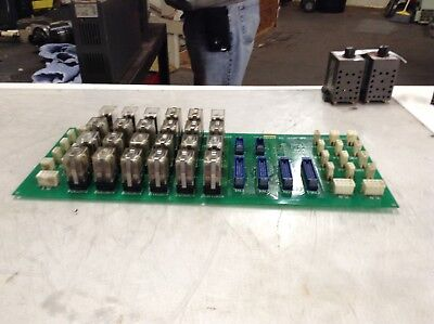 Mazak Relay PC Board, W/ Relays, # D65ZZ002720, Used, WARRANTY