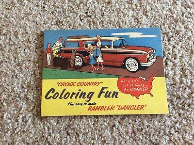 1956 Rambler wagon, original dealership showroom promotional giveway coloring bo