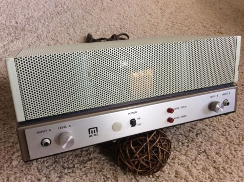Vintage Mattes SSP-200 Stereo Power Amplifier -Working-