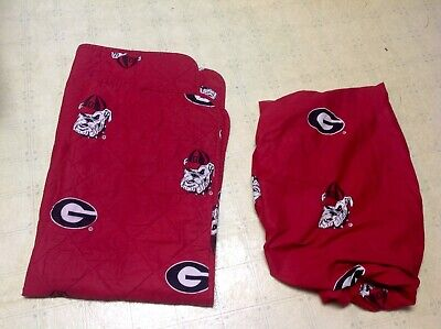 Ncaa Baby Crib Comforter (Georgia Bulldogs NCAA Crib Comforter Blanket + Fitted Sheet Baby Bedding *WoW* )